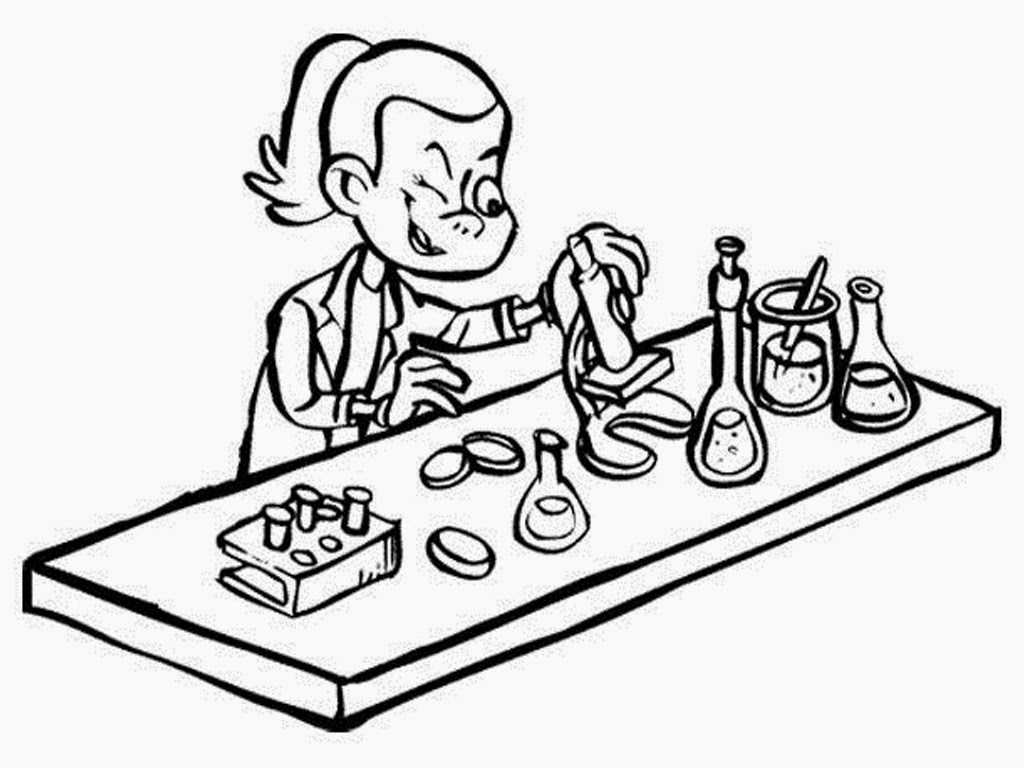 Scientist Coloring Page At Getcolorings