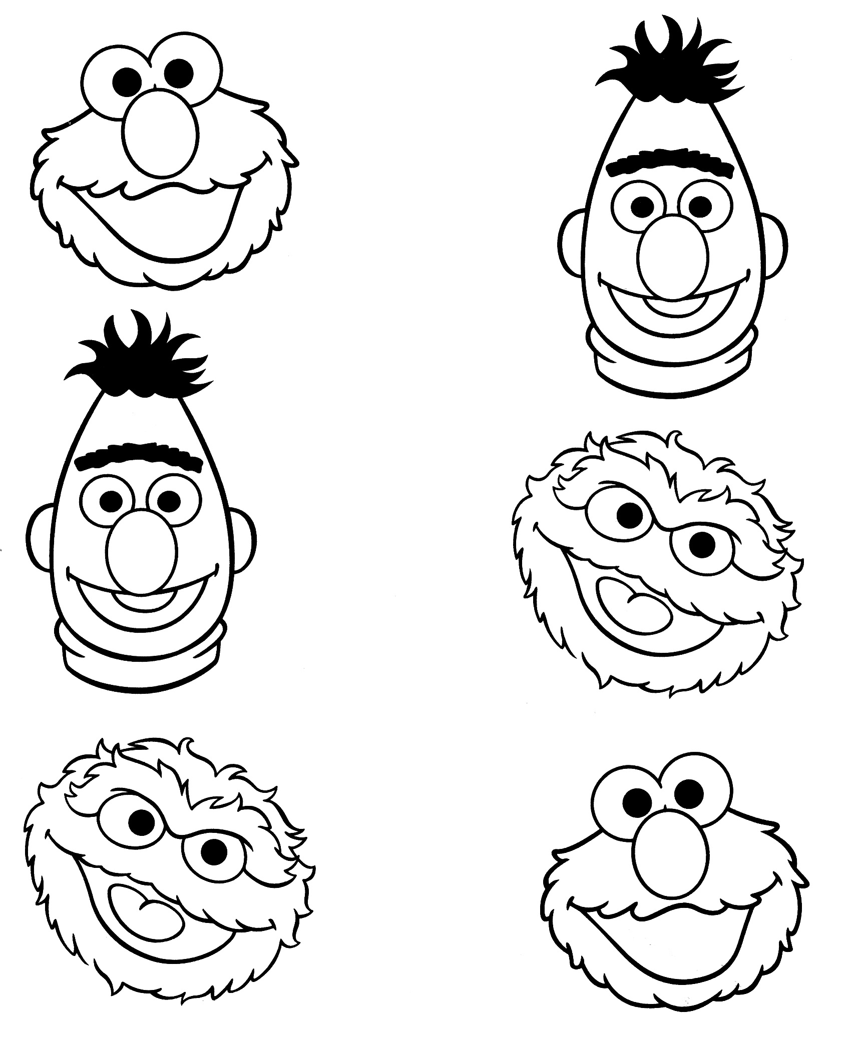 Sesame Street Characters Coloring Pages At Getcolorings