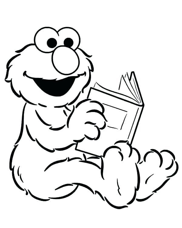 Telly Monster Sesame Street Coloring Pages Sketch Coloring