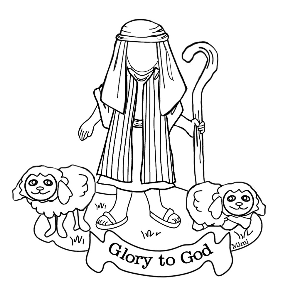 Shepherds Visit Baby Jesus Coloring Pages at GetColorings