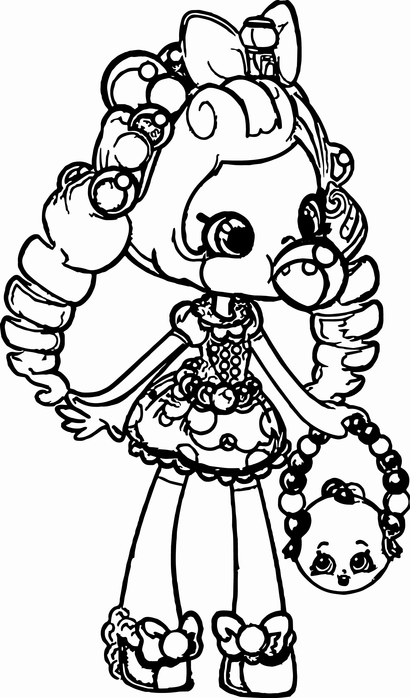 Shoppie Dolls Coloring Pages At Getcolorings
