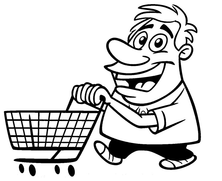 Free Coloring Pages Of Hand Carts
