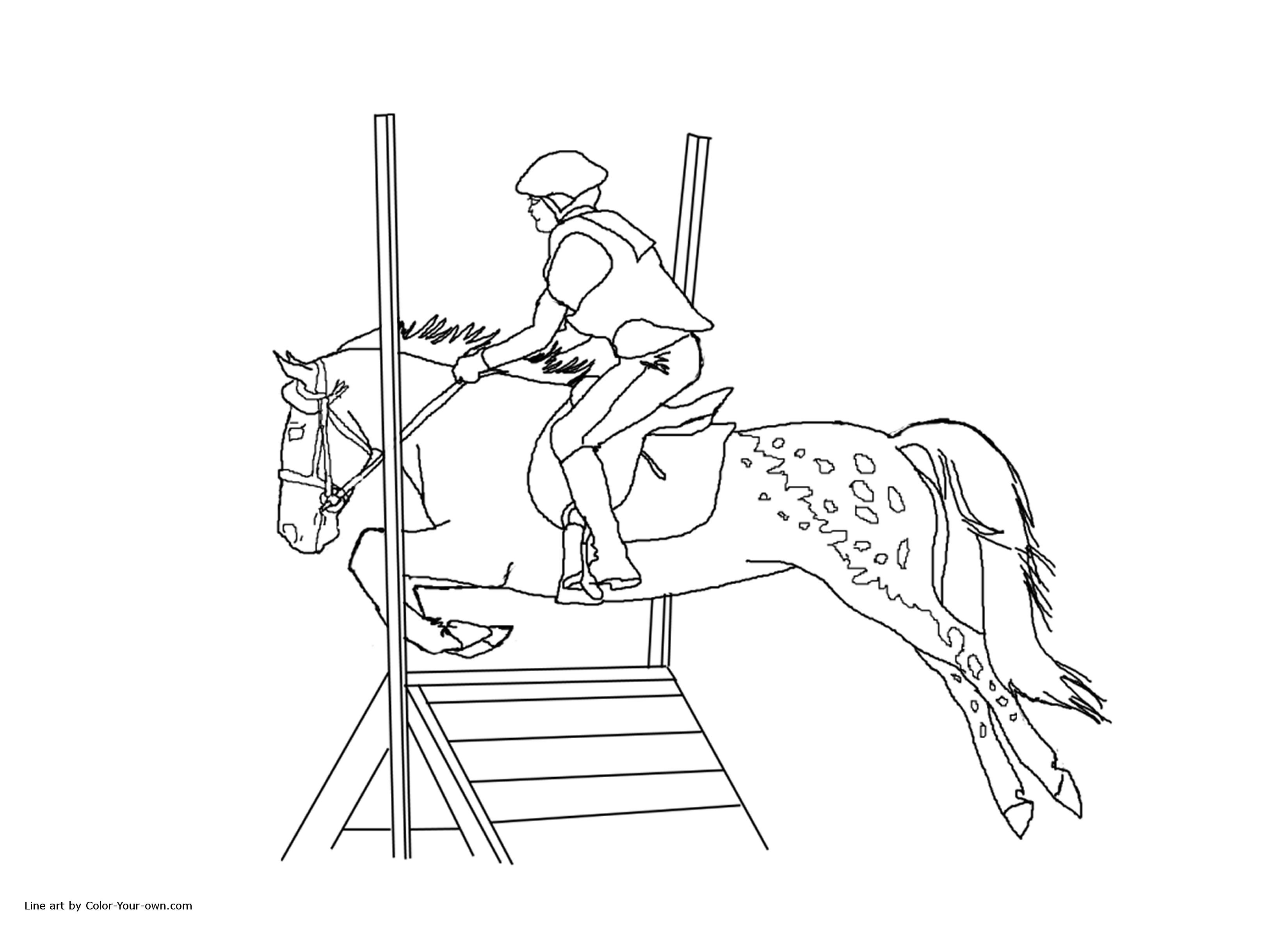 Show Jumping Horse Coloring Pages At Getcolorings
