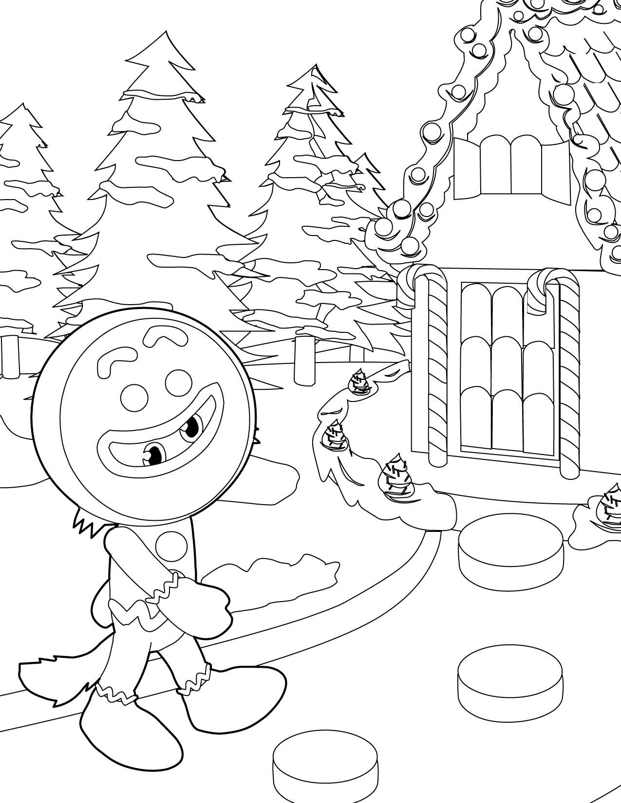 Shrek Gingerbread Man Coloring Pages At Getcolorings