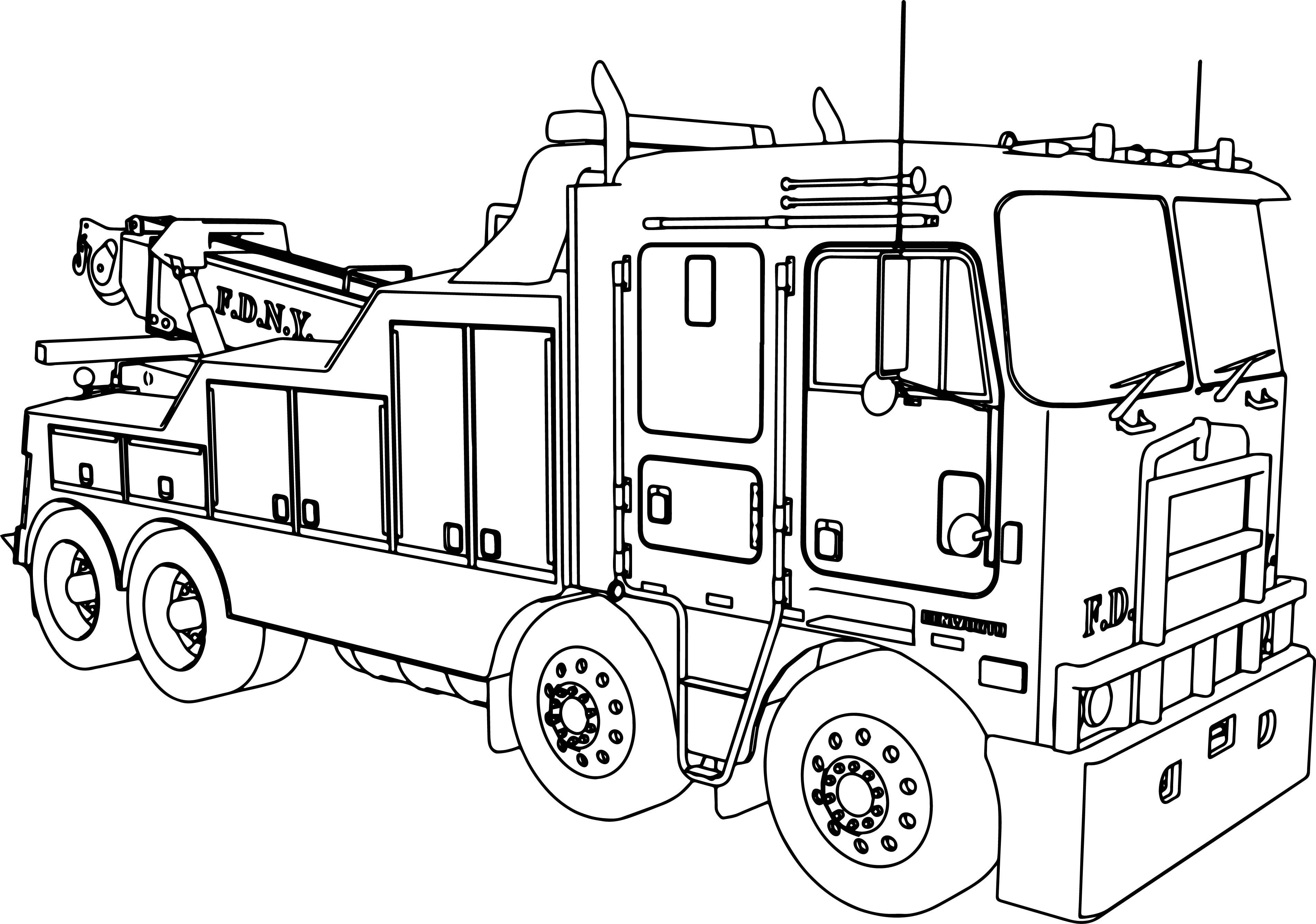 Simple Fire Truck Coloring Pages at GetColorings.com