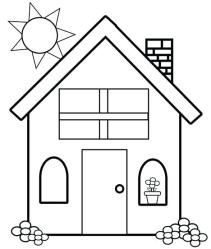 coloring pages simple printable template houses drawing colouring haunted print farm getcolorings getdrawings pag