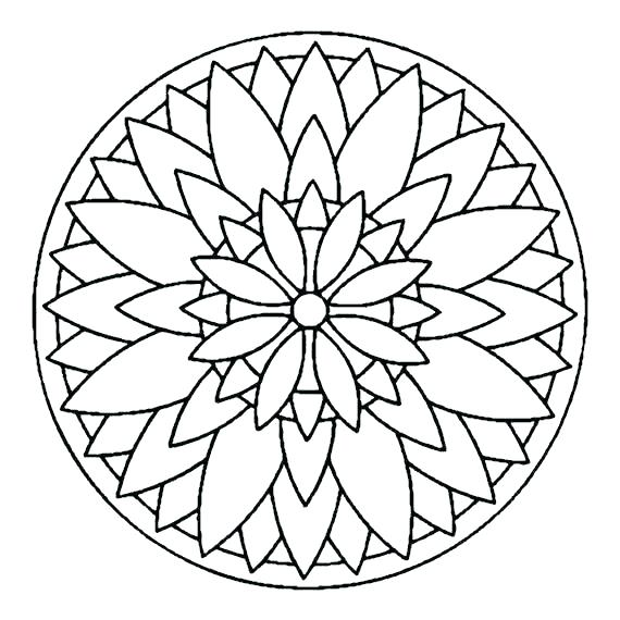 Simple Mandala Coloring Pages For Kids at GetColorings.com