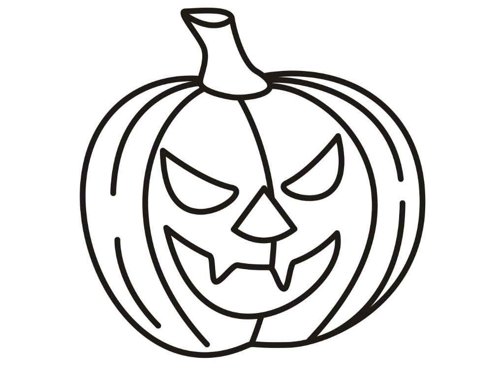 Simple Pumpkin Coloring Pages At Getcolorings