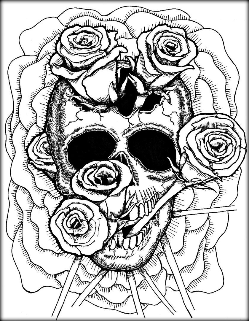 skull coloring pages for adults at getcolorings  free