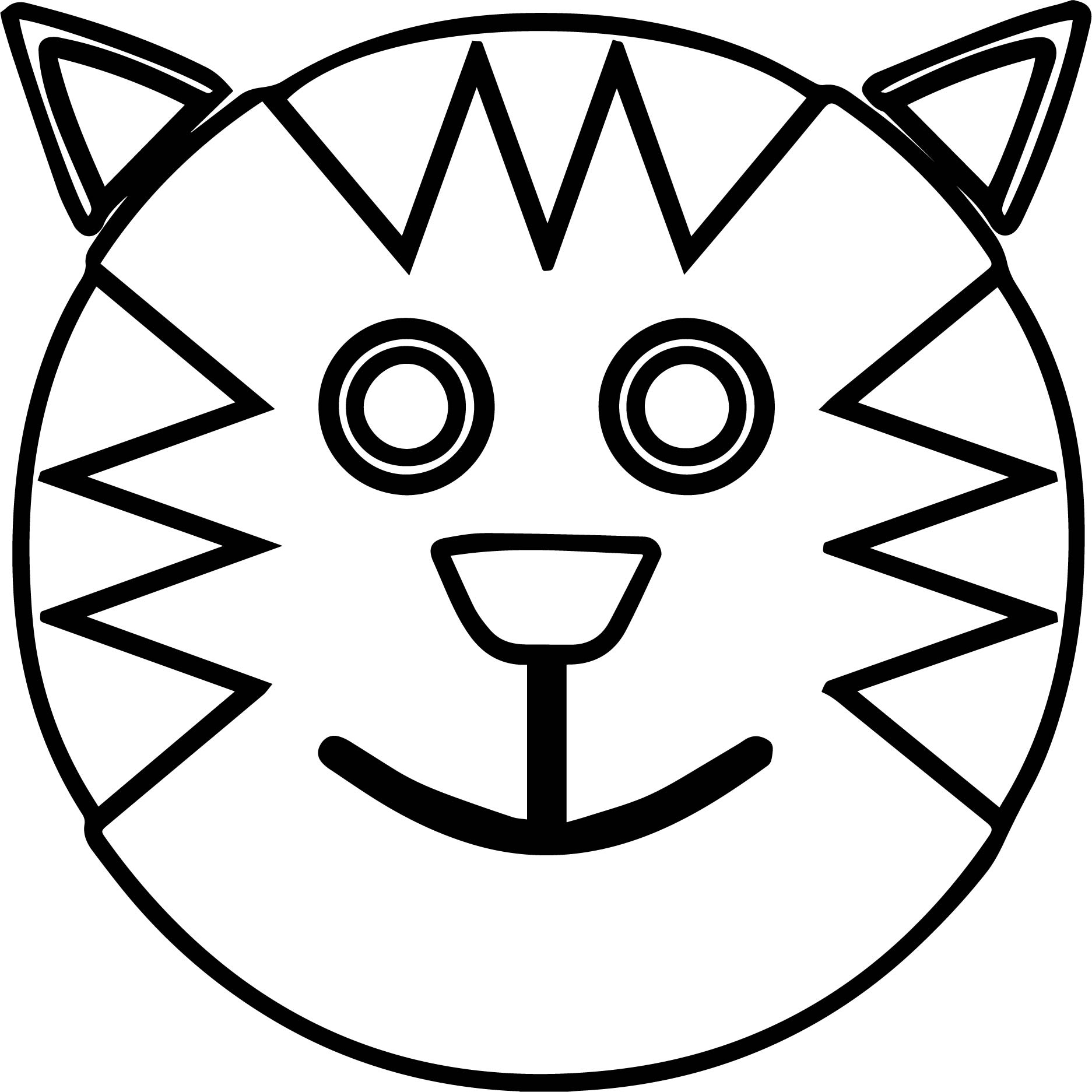 Smiling Face Coloring Page At Getcolorings