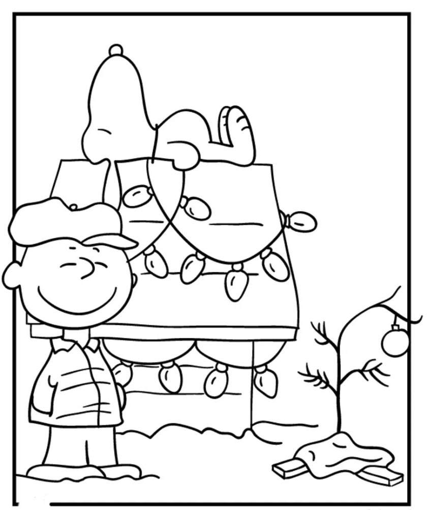 snoopy christmas coloring pages at getcolorings  free
