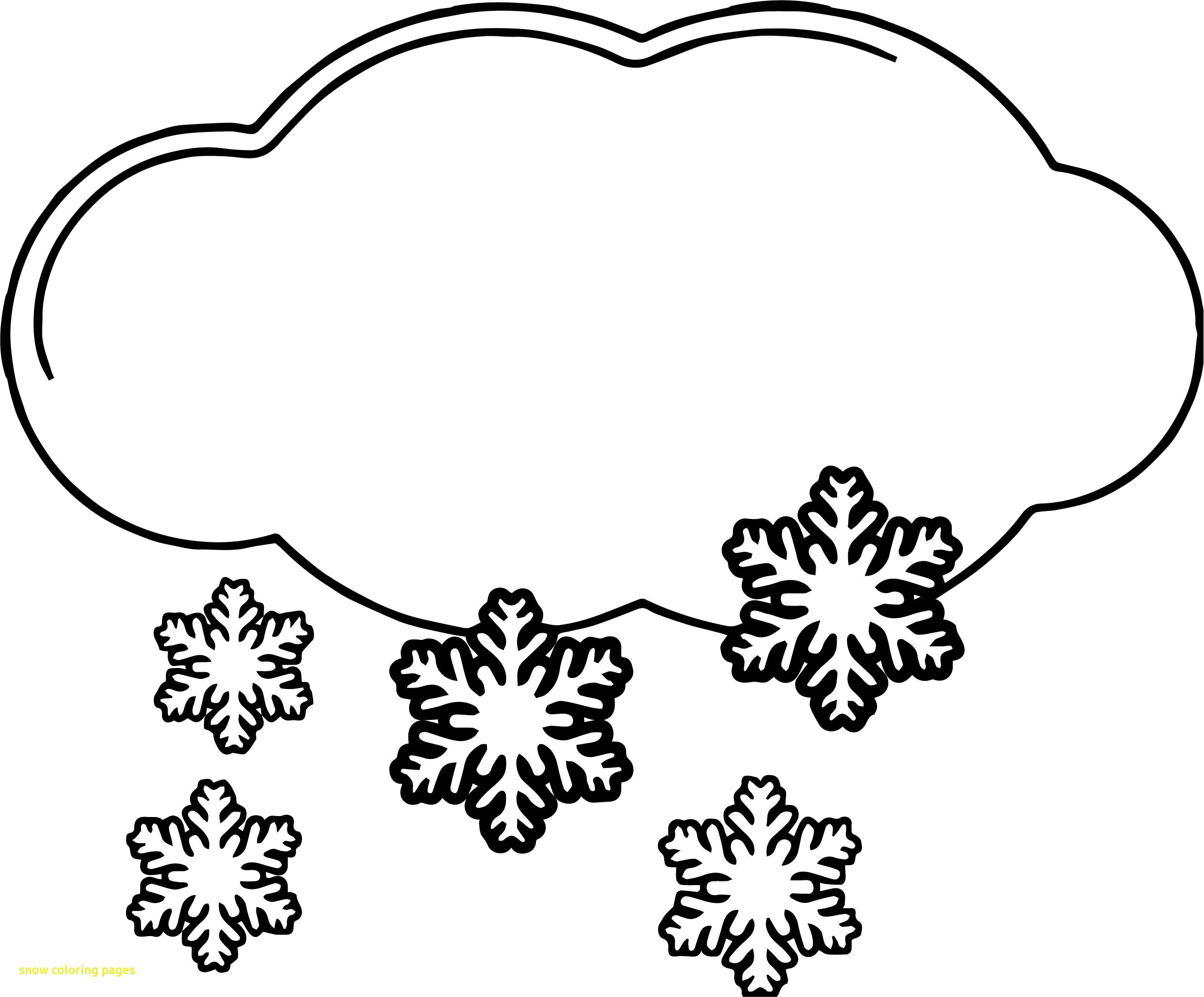 Snow Coloring Pages At Getcolorings