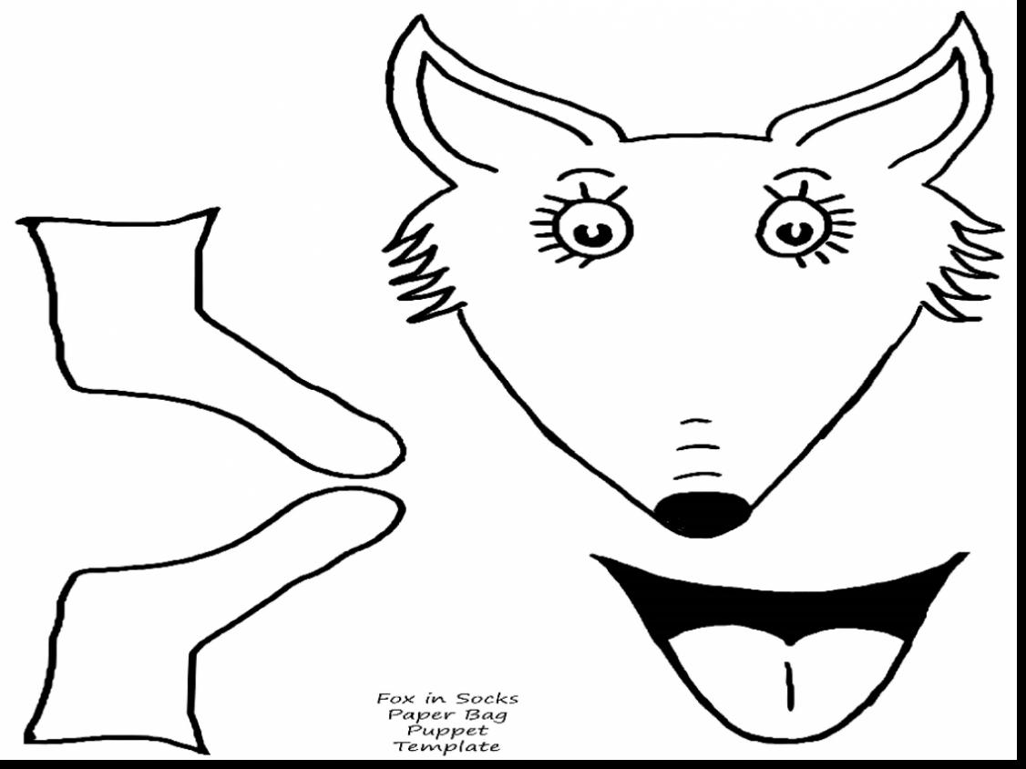 Fox In Socks Coloring Page Arenda Stroy