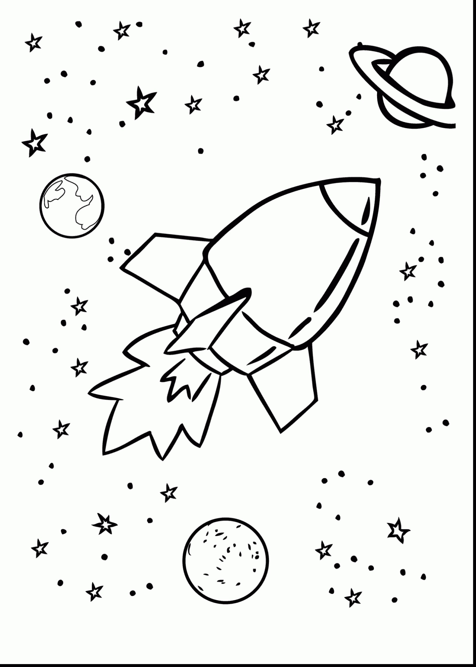 Solar System Coloring Pages Kindergarten At Getcolorings
