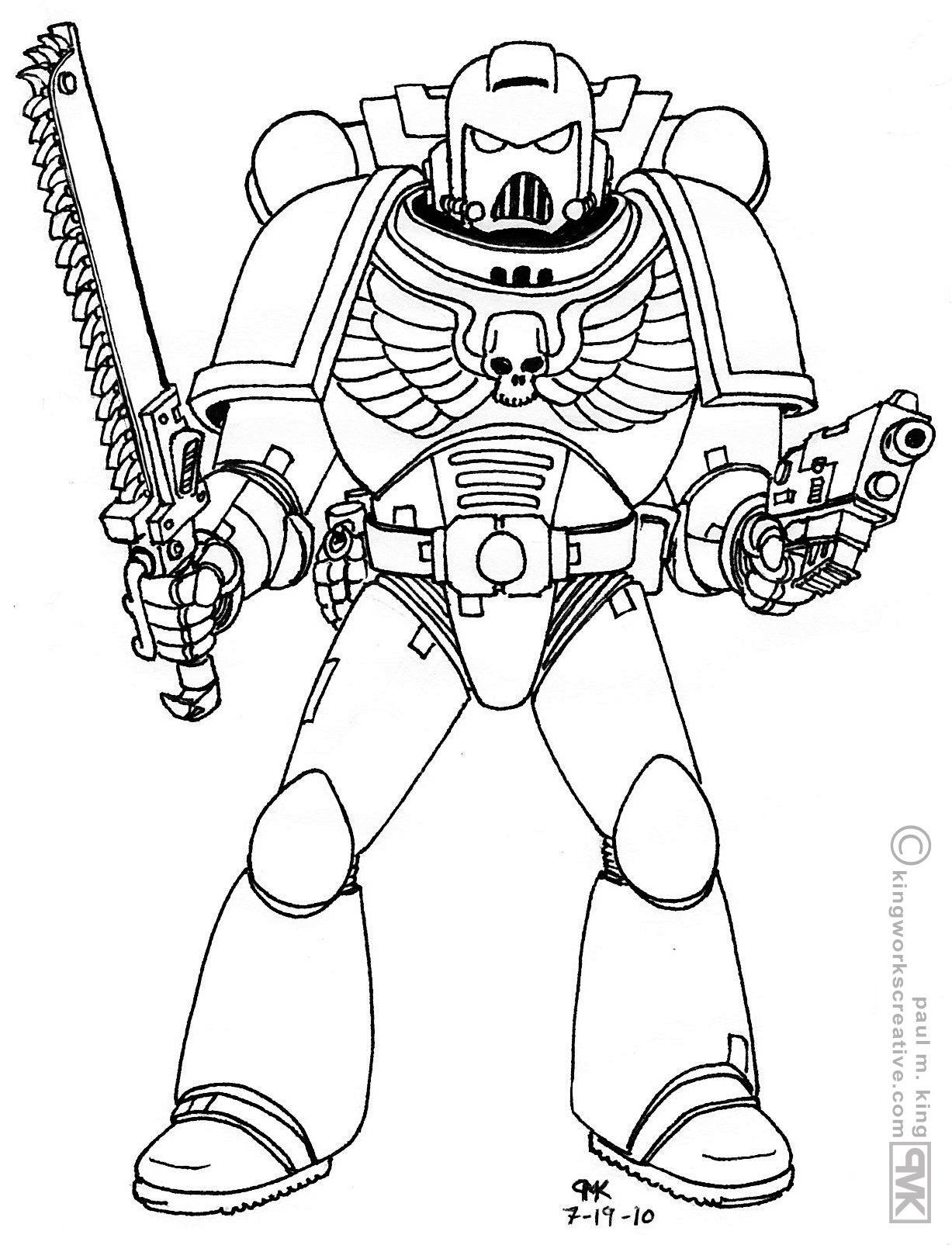 Space Marine Coloring Pages At Getcolorings