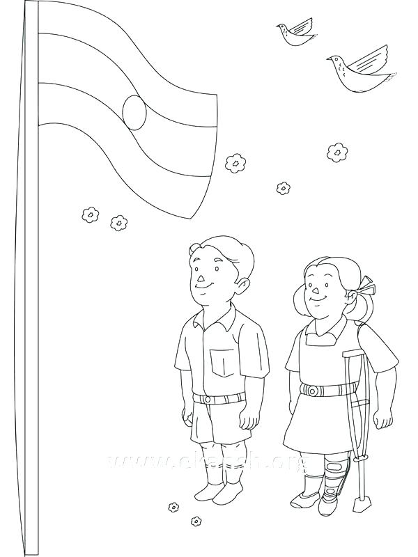 spain flag coloring page at getcolorings  free