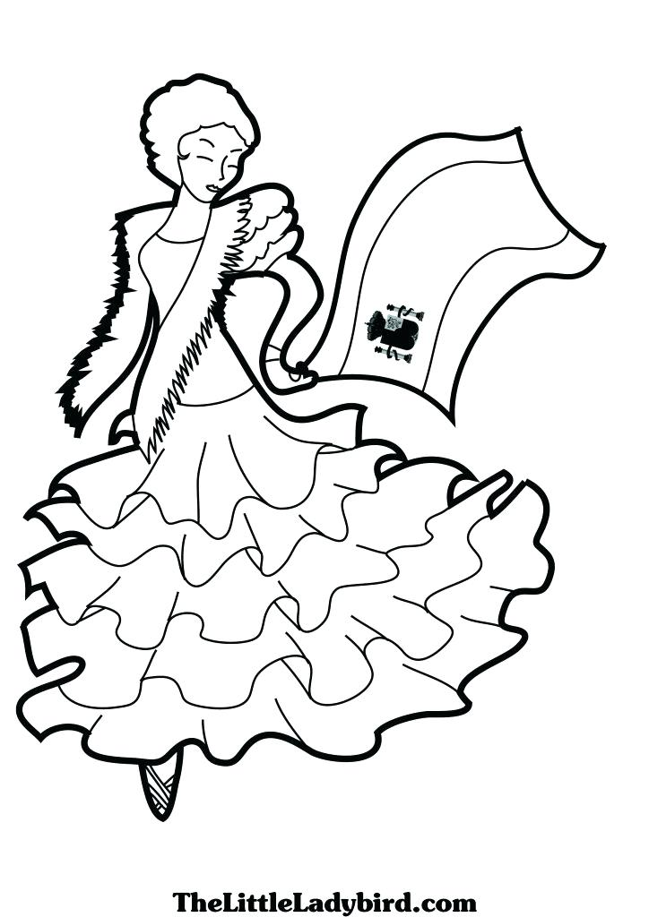 spain pages coloring pages