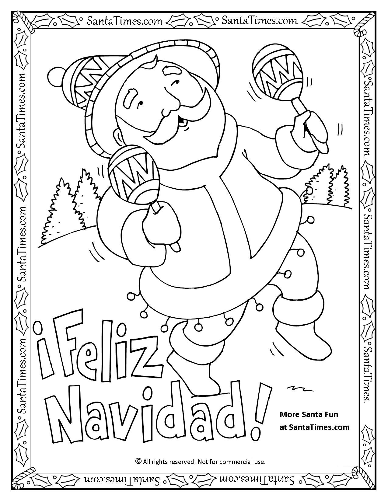 Spanish Colors Coloring Page At Getcolorings