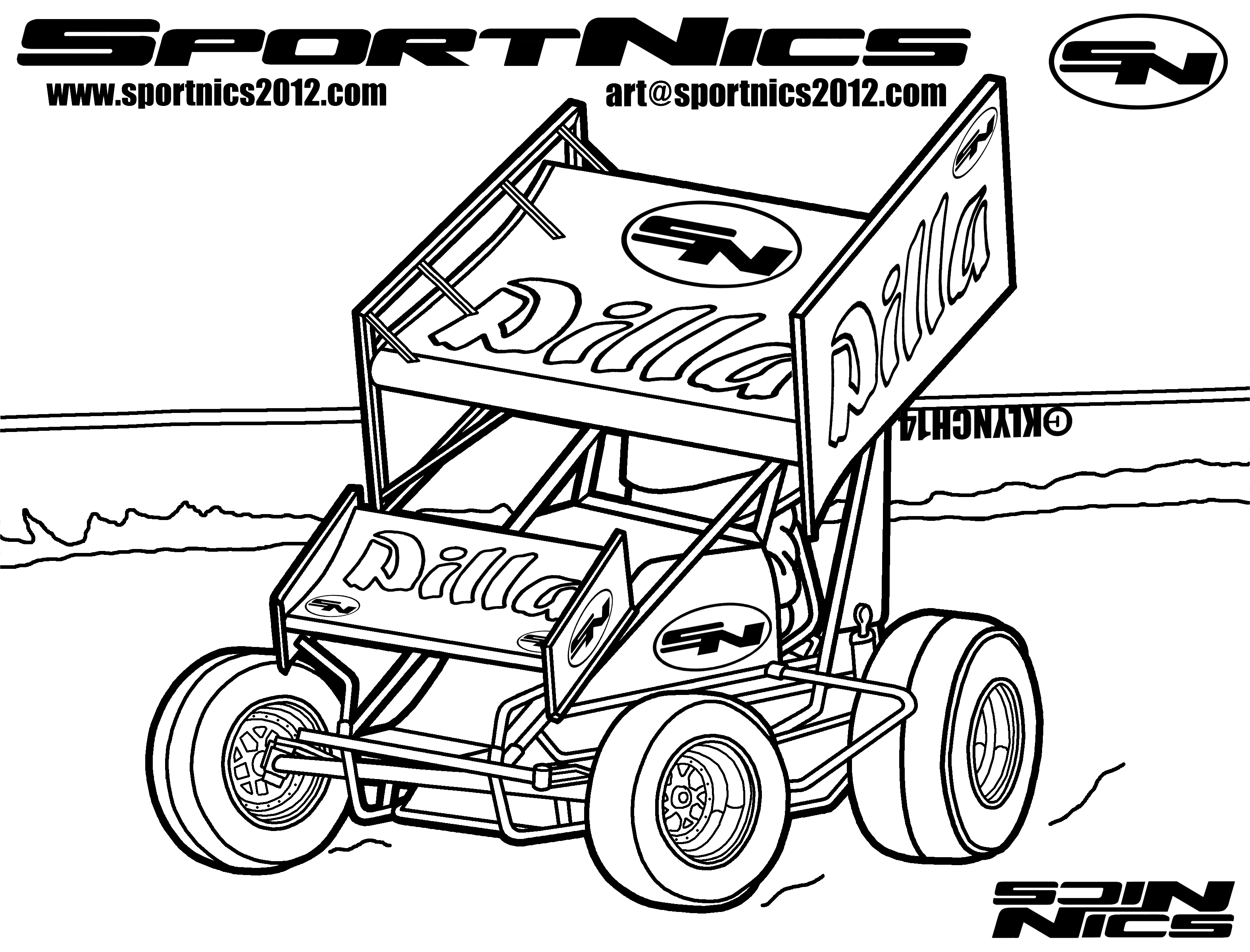Sprint Car Coloring Pages At Getcolorings