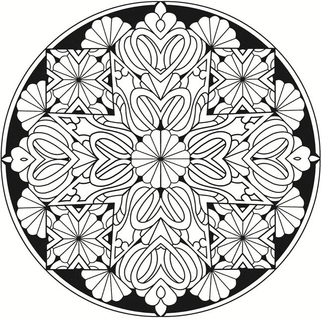 Stained Glass Coloring Pages For Adults at GetColorings