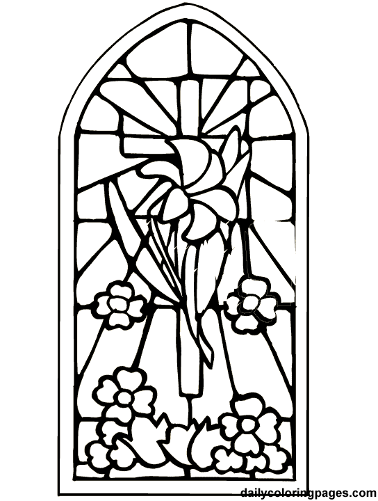 Stained Glass Coloring Pages Religious at GetColorings.com