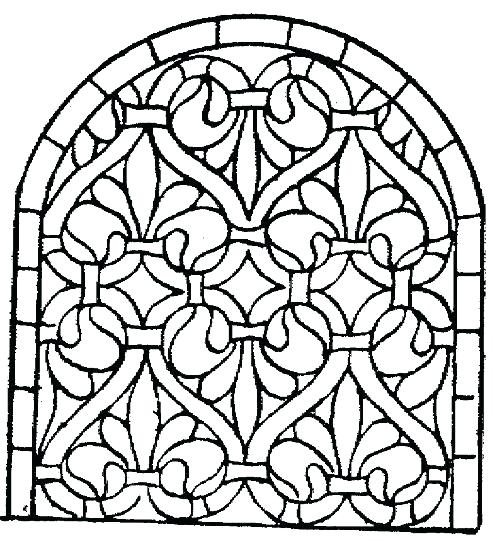 Stained Glass Cross Coloring Page at GetColorings.com