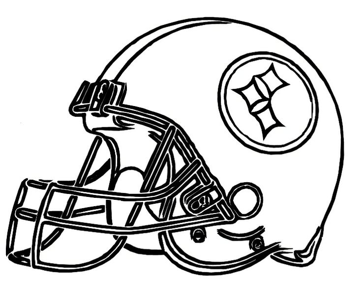 steelers logo coloring page at getcolorings  free