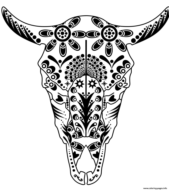 Sugar Skull Coloring Pages Printable Free At Getcolorings