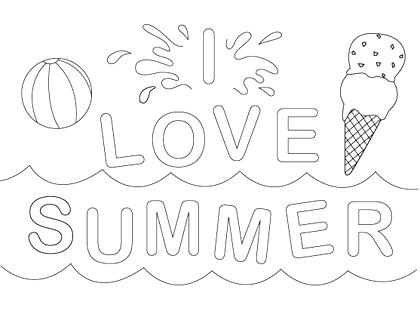 Summer Coloring Pages For Kindergarten at GetColorings.com