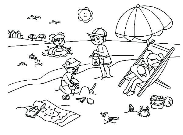 Summer Coloring Pages For Toddlers at GetColorings.com
