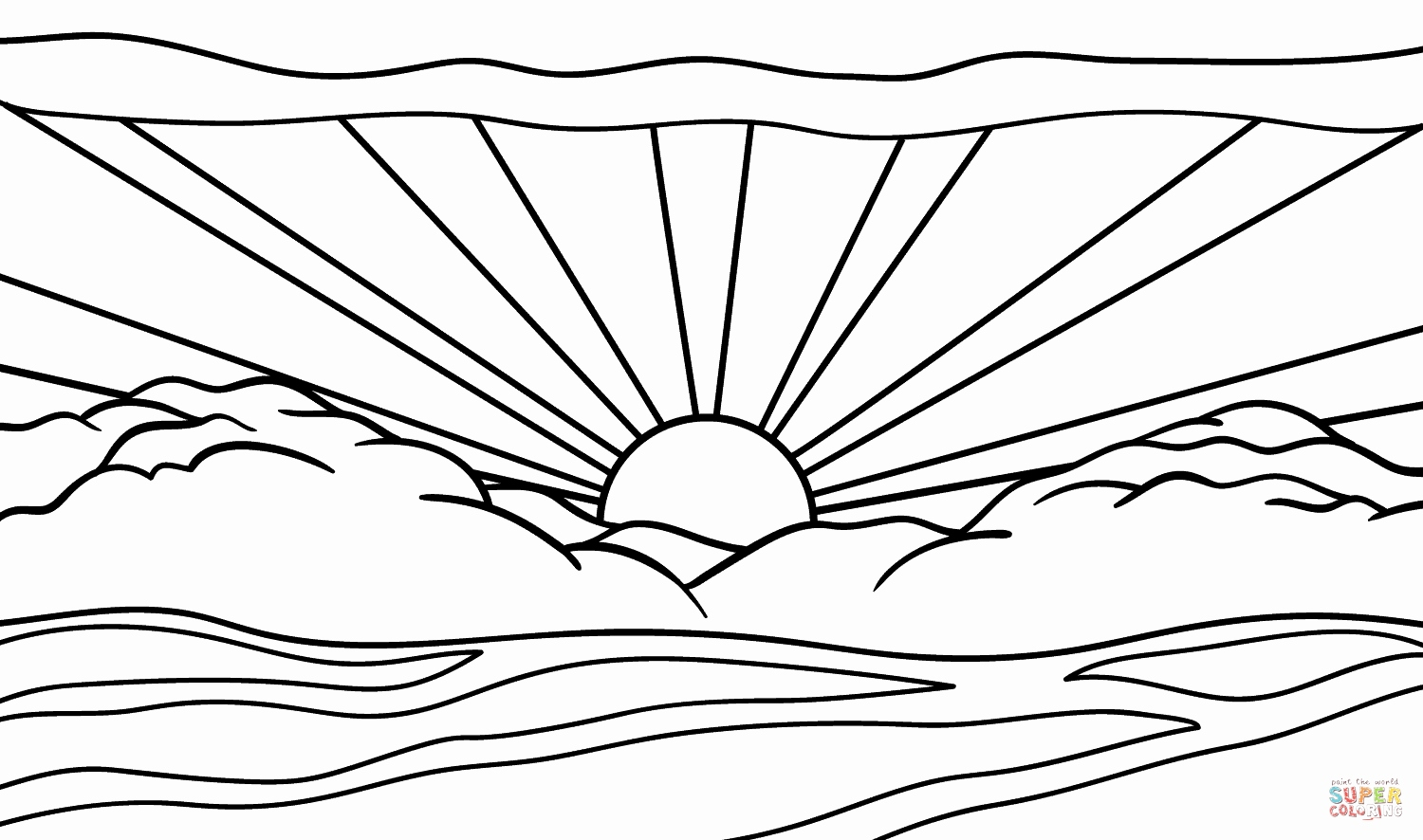 Sunrise Coloring Page At Getcolorings