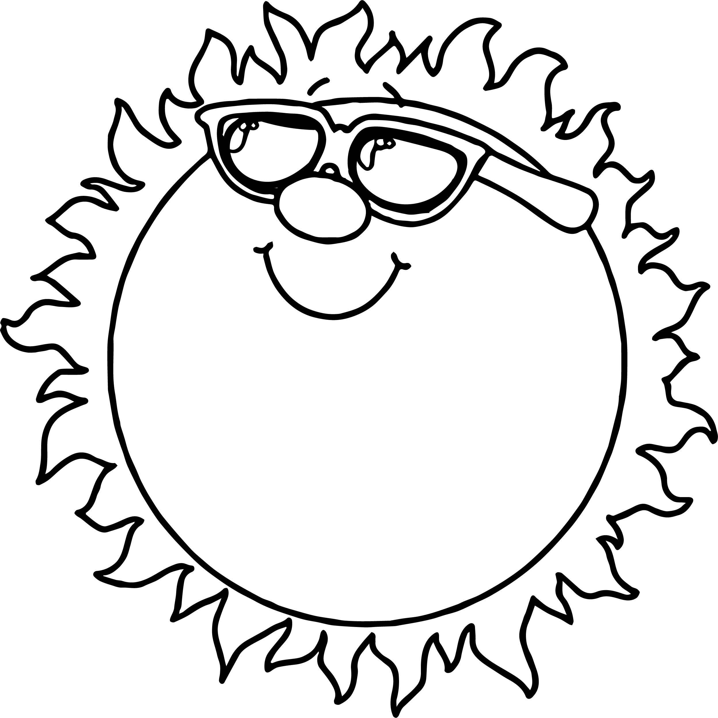Sunshine Coloring Page At Getcolorings