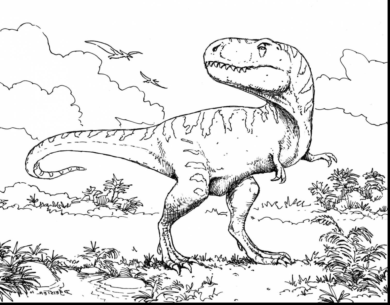 T Rex Coloring Page At Getcolorings