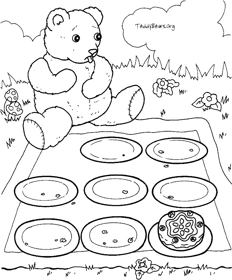 Teddy Bear Picnic Coloring Pages at GetColorings.com