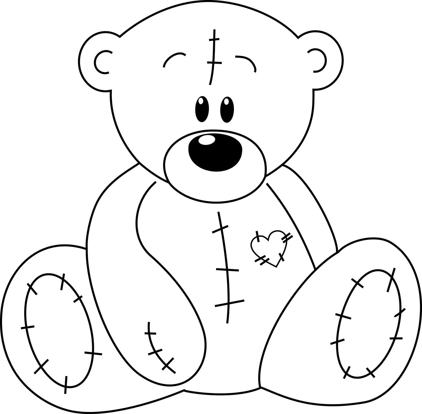 Teddy Bear With Heart Coloring Pages At Getcolorings