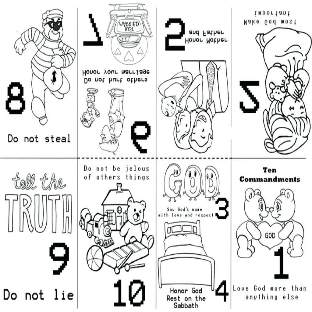 Ten Commandments Coloring Pages For Preschoolers At