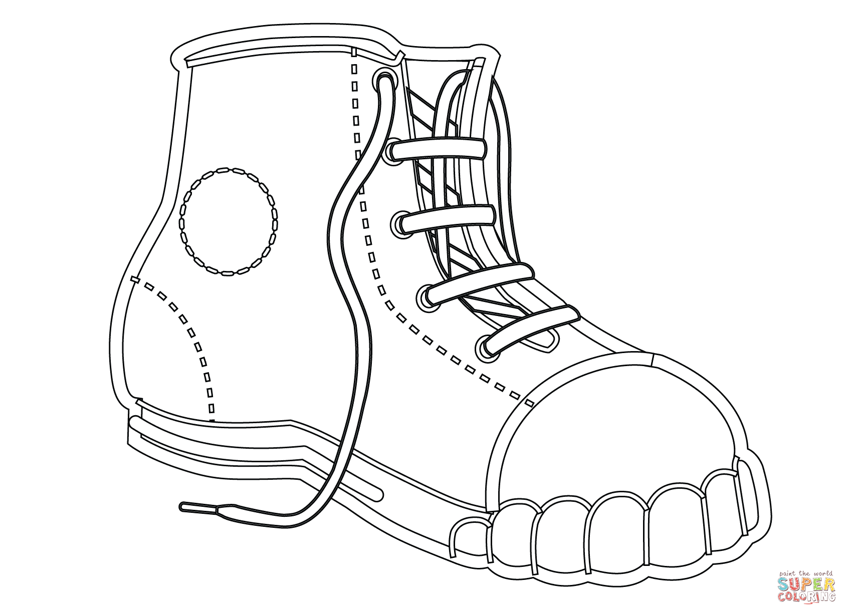 Tennis Shoe Coloring Page At Getcolorings