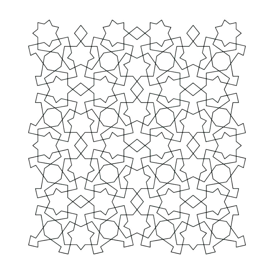 Tessellation Coloring Pages Free Printable at GetColorings