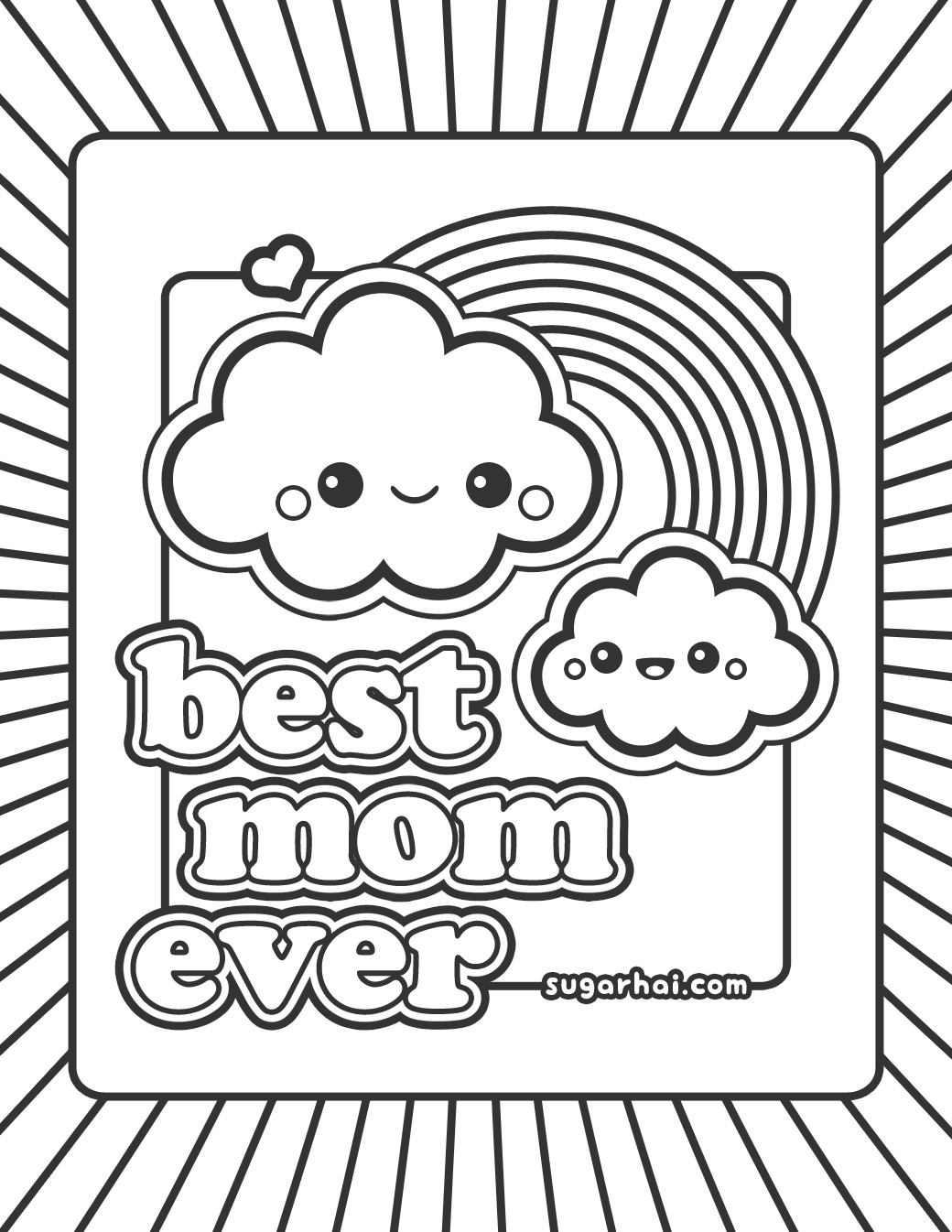Thank You Mom Coloring Pages At Getcolorings