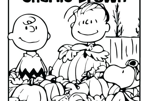 Thanksgiving Coloring Pages Charlie Brown at GetColorings