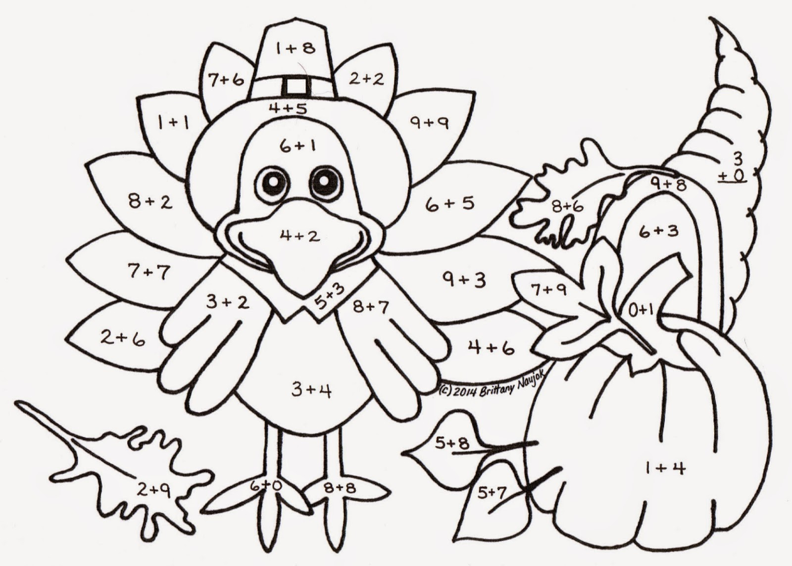 Thanksgiving Table Coloring Page at GetColorings.com