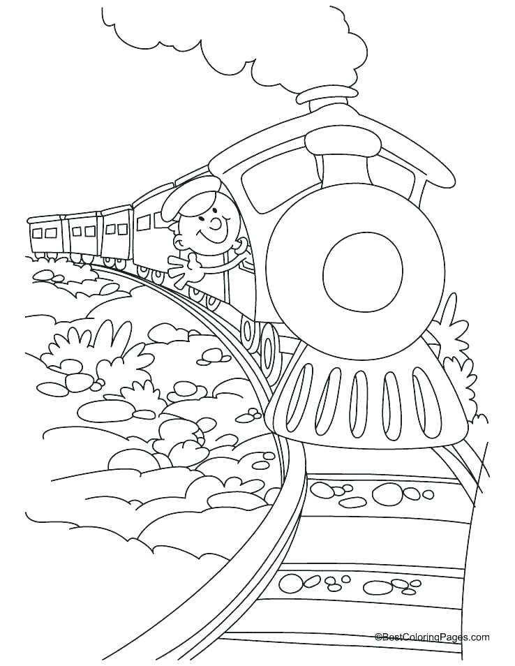 The Polar Express Train Coloring Pages at GetColorings.com