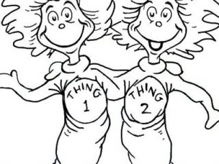 Thing 1 And Thing 2 Coloring Pages To Print at