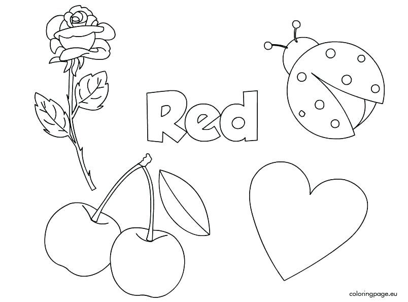 Things That Are Red Coloring Pages at GetColorings.com