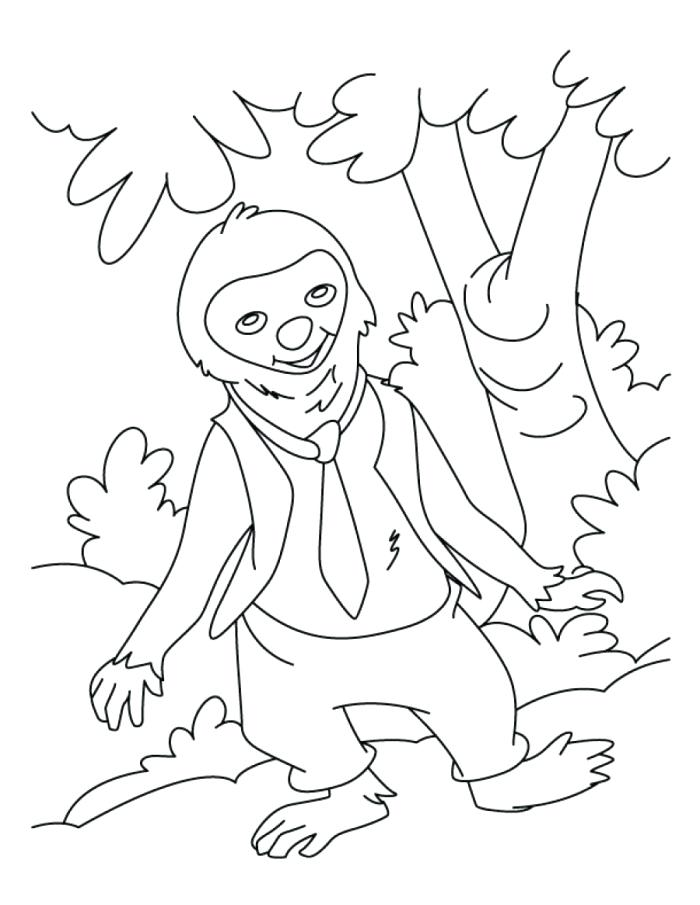 three toed sloth coloring pages at getcolorings  free