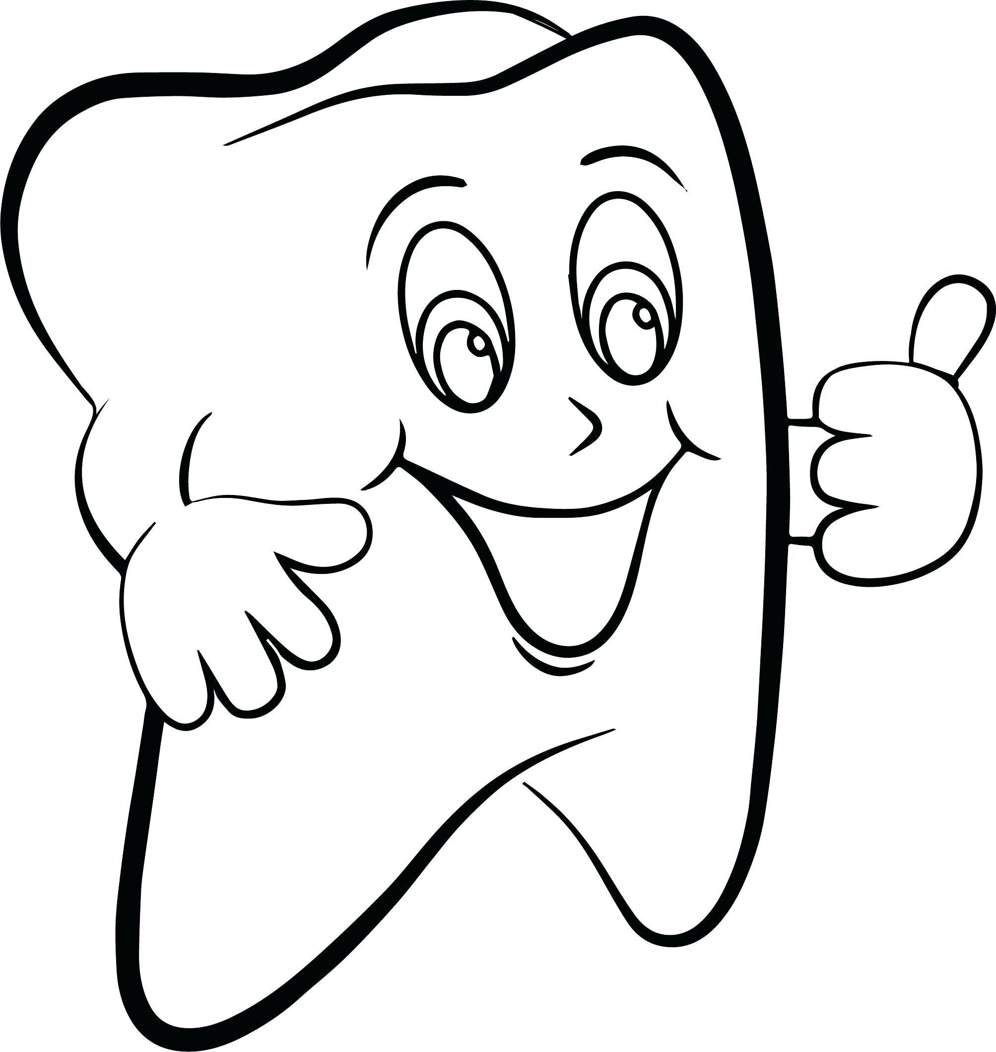 Tooth Coloring Pages Printable At Getcolorings