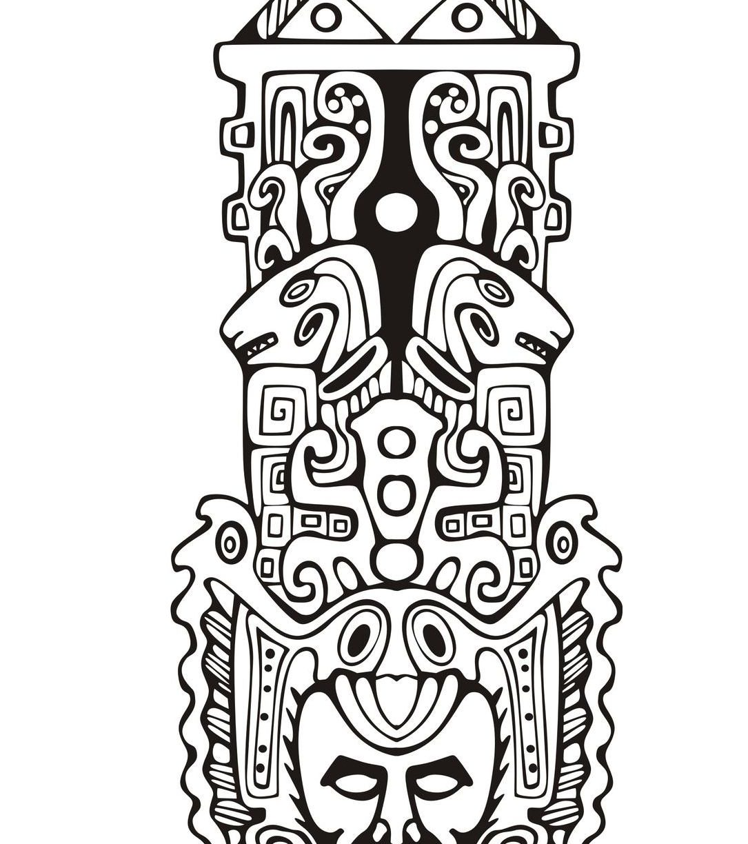 Totem Pole Coloring Pages At Getcolorings