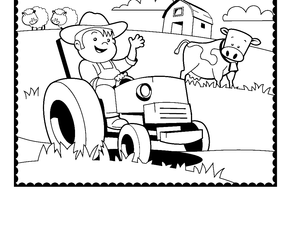 Tractor Coloring Pages For Toddlers At Getcolorings