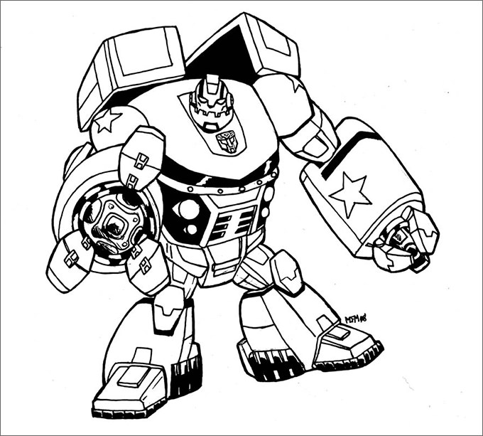 Bumblebee Transformer Coloring Pages Printable at