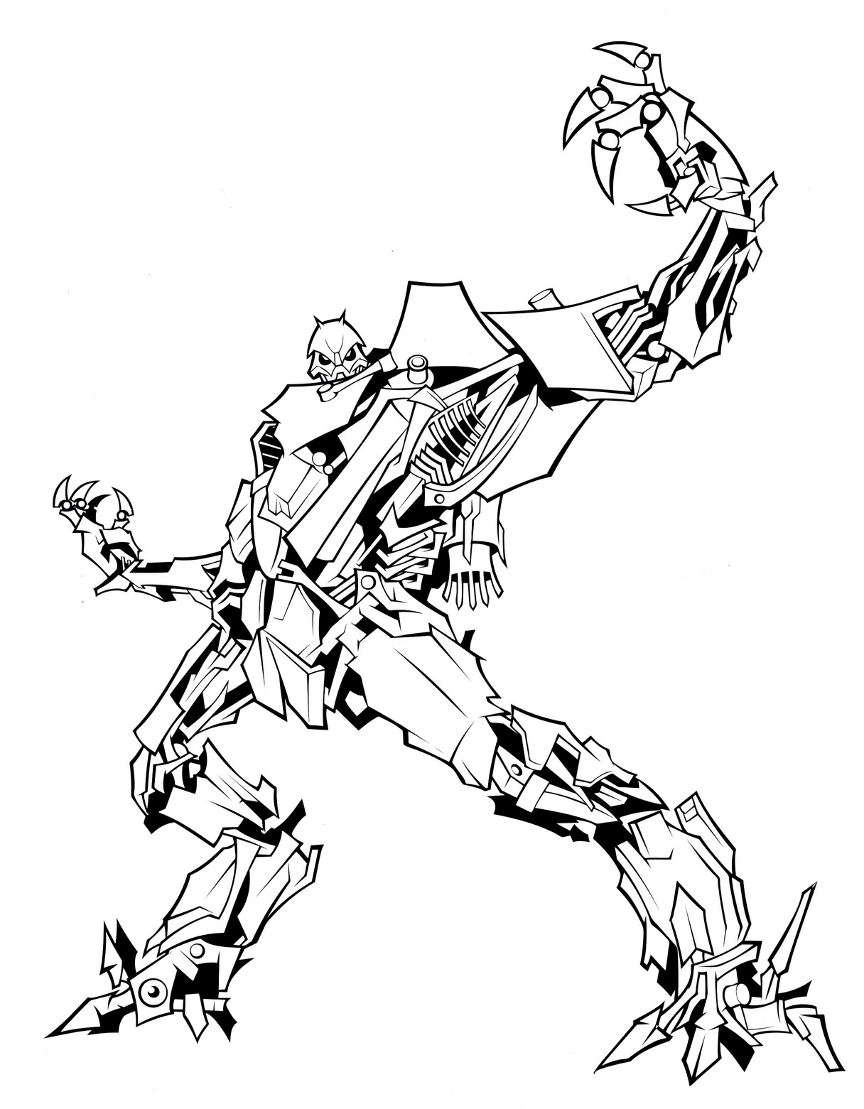 Transformers Coloring Pages Starscream at GetColorings.com